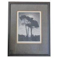 Maurice Walter Kessel copper plate lithograph custom framed
