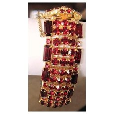 Smoking Hot Tamale! All red rhinestone bracelet. Not to be missed.