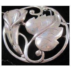 Vintage Danecraft sterling silver Calla Lily Pin