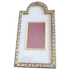 Elaborate Victorian Bronze dore Enamel Champleve Picture Frame