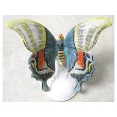 Signed Rosenthal porcelain figural butterfly in soft colors