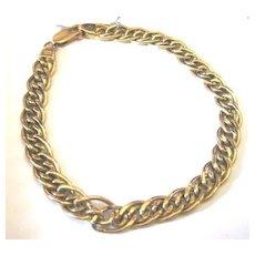 Vintage Italian 14k yellow gold hallmarked multi swirl chain bracelet Favored for charm bracelets