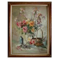 Still life floral painting by noted painter Joyce Lee Pike