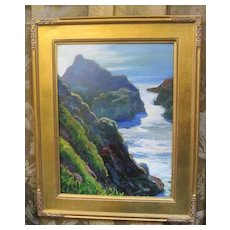 Sterling Hoffmann oil on board painting of Bodega Bay California