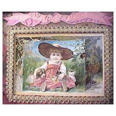 Woolson Spice Company custom framed Midsummer greetings