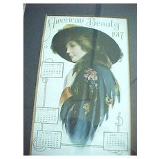 Framed 1917 American Beauty Farm and Home Calendar