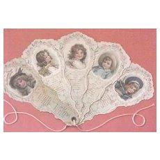 Frances Brundage 1901 Children's Year Calendar custom framed
