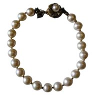Signed Miriam Haskell simulated pearl bracelet