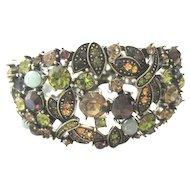Retired Heidi Daus all autumn colored jeweled bracelet