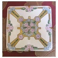 Bavarian Trivet porcelain handpainted with flowers