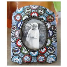 Italian Micro mosaic picture frame