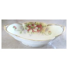 Pretty vintage Nippon hand painted handled dish