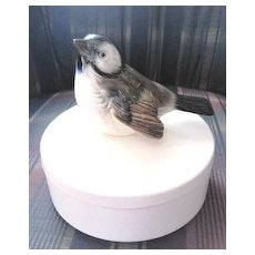 Cute porcelain BIRD candy box by Goebel of W. Germany