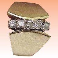 Estate Vintage 14K Yellow .75ct Diamonds Wedding Ring Band