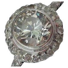 GIA Certified!  $3920 Estate 18K White Gold 1.00carats Diamond Ring.
