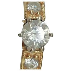Estate Vintage 14kt Yellow Gold .70ct Solitaire Old European Cut Diamond Ring