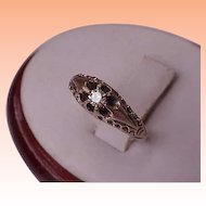 Victorian  1800's Antique Old European Cut .15ct Diamond Belcher 12k Gold Ring .. Amazing!