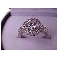 IGL Certified! $14879 Estate Vintage 14k White Gold VS/H 1.57cttw Natural Diamond Ring