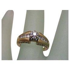 Estate Vintage  .50ct Diamond Engagement 14k Yellow Gold Filigree Ring