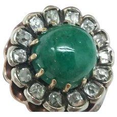 $7500 Incredible works of Art, Antique Victorian  Enameled 14k White Gold Filigree 5.82cttw Genuine Emerald & Diamonds