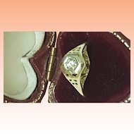 Incredible works of Art ,Antique Art Deco 14K 2-Tone Gold Filigree .15ct Diamond Ring