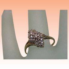 Estate Vintage 14k Yellow Gold .50cttw Diamond Ring ,1960's