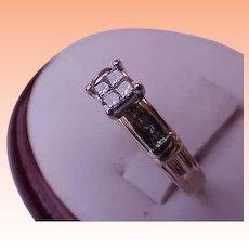 Estate Vintage 14k Yellow Gold .30ct Diamond ring ,1950's