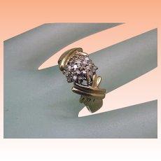 Vintage Estate 14k Yellow Gold .40cttw Diamond Ring ,1950's