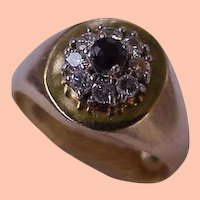 $ 4,000 Estate Vintage  18k Yellow Gold Genuine Blue Sapphire & Diamonds Ring , Appraisal included.