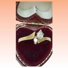Estate 14K Yellow Gold .50ct Diamond Engagement  Ring