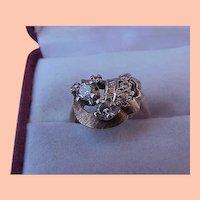 Estate Vintage  14kt .69ct VSH Old European Cut Diamond Yellow Gold Ring