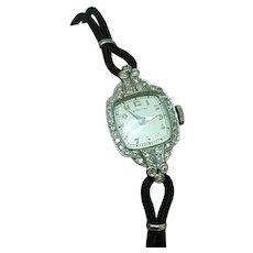 Antique Platinum  Ladies 40 old cut  1.25ct VS Diamonds Hamilton Watch,Perfect Condition! 1930s