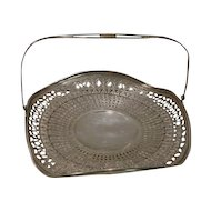 Sterling Silver Vintage   Pierced Basket