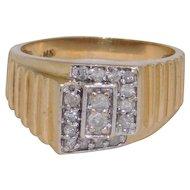 Man's  Diamond 14k Gold Ring