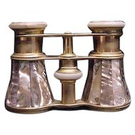 Antique Mother of Pearl Abalone Binoculars  Opera Glasses