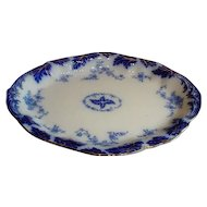 Flow Blue Platter By Grindley Of England