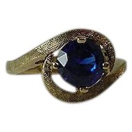 10k Gold Blue Sapphire Ring