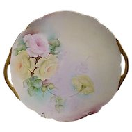 D & C Limoges France Rose Tray
