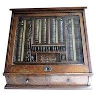 Antique Medical Optical Trial  Lens Eye Exam Case For Opticians Office