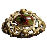 Vintage Fancy Brass Hat Pin