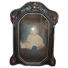 Art Deco Convex Glass Picture Frame