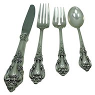 Lunt 's  Eloquence  Sterling Silver Four Piece Place setting