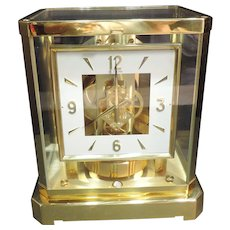 Jaeger LeCoultre Atmos Desk Clock Gilded Case 528-8  Working 15 Jewels - Red Tag Sale Item