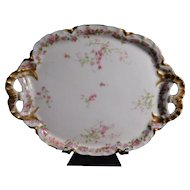 Haviland Limoges France Pink Rose Dresser Tray