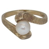 10K Yellow Gold Culture Pearl Ring