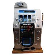 Vintage   Mills  Diamond Front   Five Cent Slot Machine