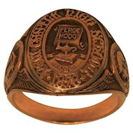 1932 New Castle High School 10K Gold Ring
