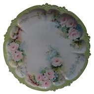 Limoges Hand Painted Wall  Plate By GDA