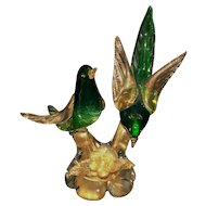 Venetian Salviati Murano Art Glass Birds