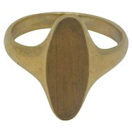 10K Yellow Gold Initial Ring